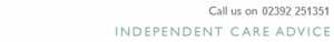 Header - Independent Care Advice 02392 251351