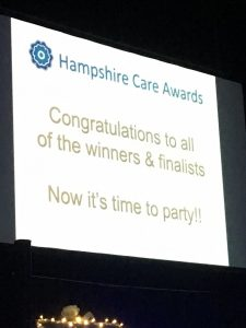 Hampshire Care Awards - Congratulations to the winners