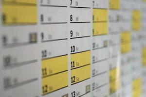 7-days a week calendar