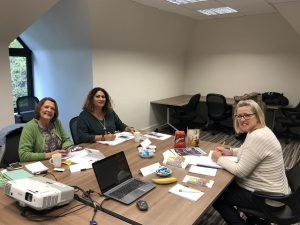Lynn Osborne, Kate Slade and Soraiya Humby of Clarity Care Consulting plan for 2019