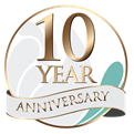 10th anniversary Clarity Care Consulting logo