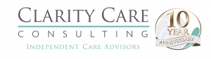 Clarity Care Consulting Independent Care Advisors Logo with 10 year anniversary